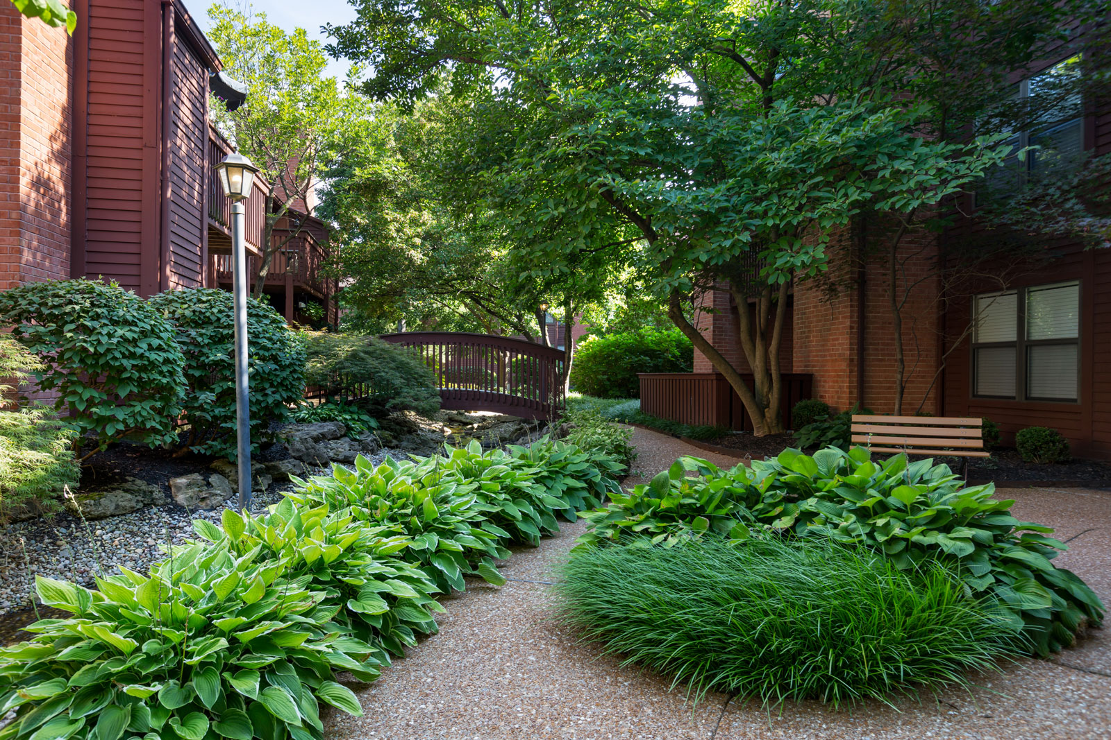 Landscaping and outdoors decor at Chesterfield Village Apartments
