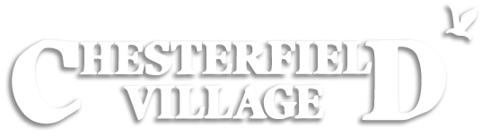 Chesterfield Village Logo in White