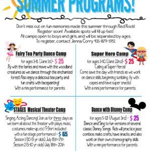 Summer Programs – 2019