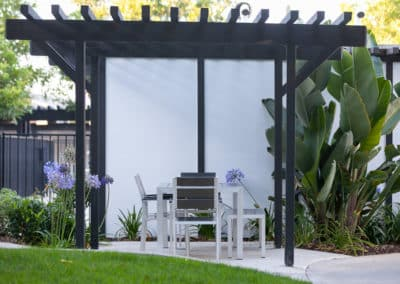 Outdoor BBQ kitchen & picnic areas with green plants