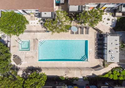 Swimming Pool Aerial View at Eastside Apartment Homes