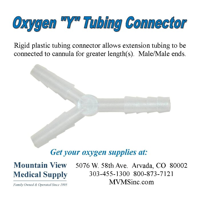 """photo of Oxygen """"Y"""" Tubing Connector CON-700 at Mountain View Medical Supply"""