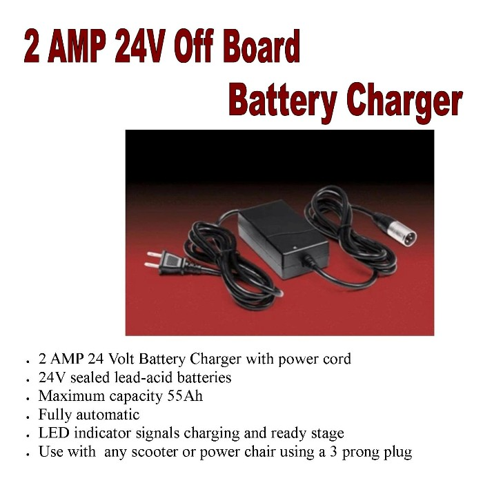 2 AMP 24V Off Board Battery Charger LS24/2 from Mountain View Medical Supply