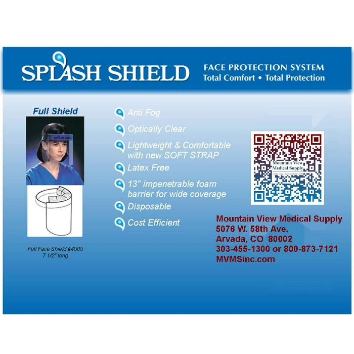photo of 4505 Splash Shield Face Protection System from Mountain View Medical Supply