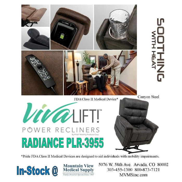 photo of Pride Mobility VivaLift! Radiance Power Lift Chair Recliner PLR-3955 from Mountain View Medical Supply