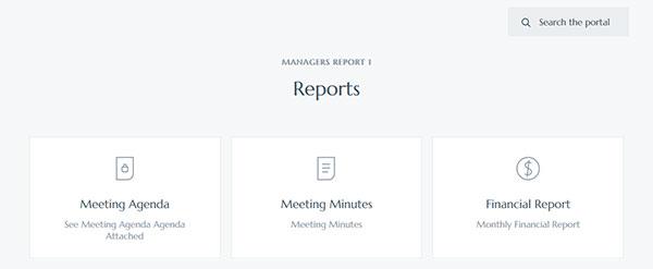 Sample client area