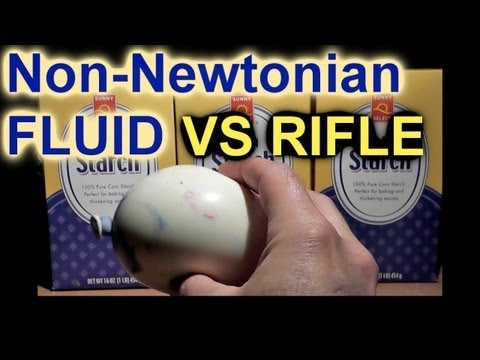 Shooting Non-Newtonian Fluids with a 22 Rifle