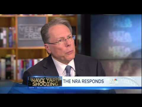 Wayne LaPierre on Meet the Press - We Need More Armed Security
