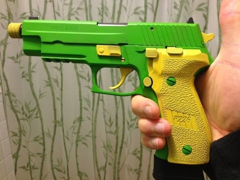 Sig P226 with Zombie Green DuraCoat