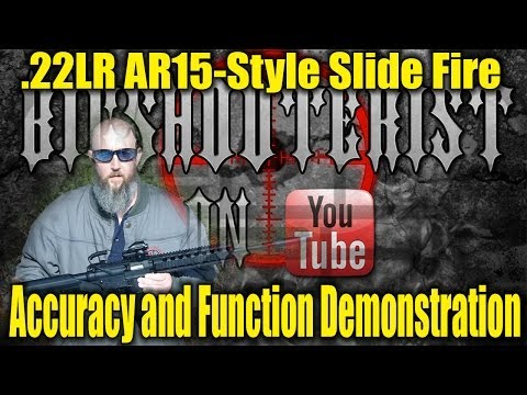 Smith and Wesson M&P 15-22 with Slide Fire Stock