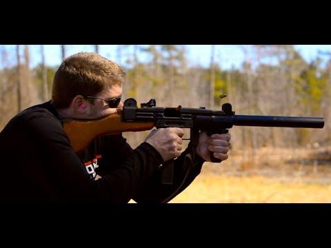 Suppressed UZI and Double Barreled 10 Gauge Shotgun