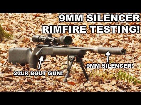 9mm Liberty Infiniti Suppressor on 22LR Rifle