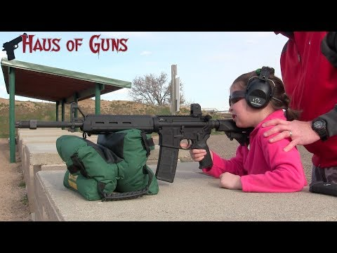 Teaching a 7 Year Old to Shoot an AR-15 Rifle