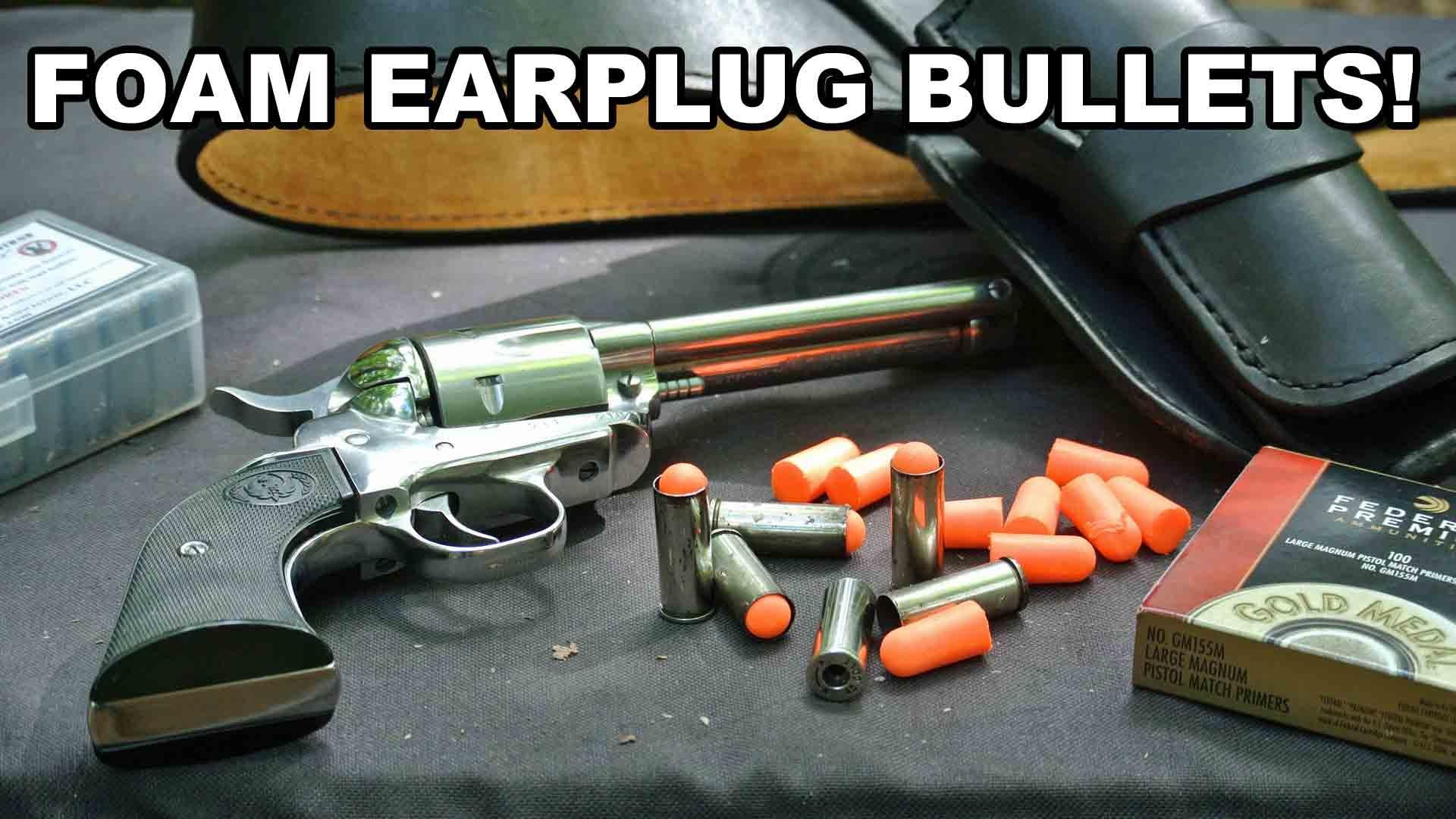 Foam Earplug Bullets