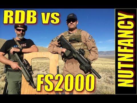 Kel-Tec RDB vs FN FS2000 Long Range Run and Gun