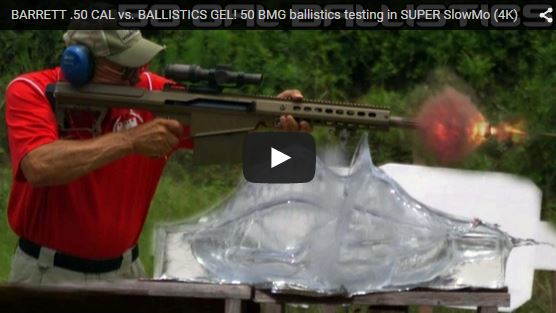 Barrett M107A1 50 Cal vs Ballistics Gel