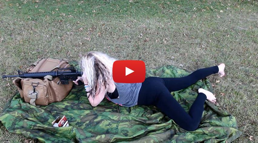 Colleen Shooting the AR-15 Rifle