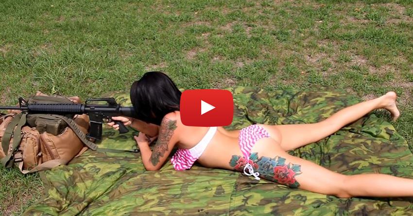 Amanda Sue Shooting the AR-15 Rifle