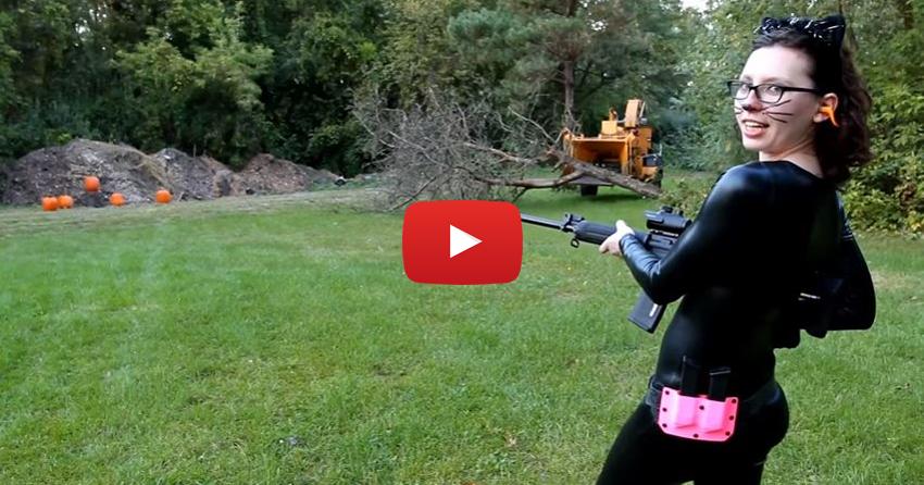 Cambria Leigh Shooting Range Pumpkin Massacre