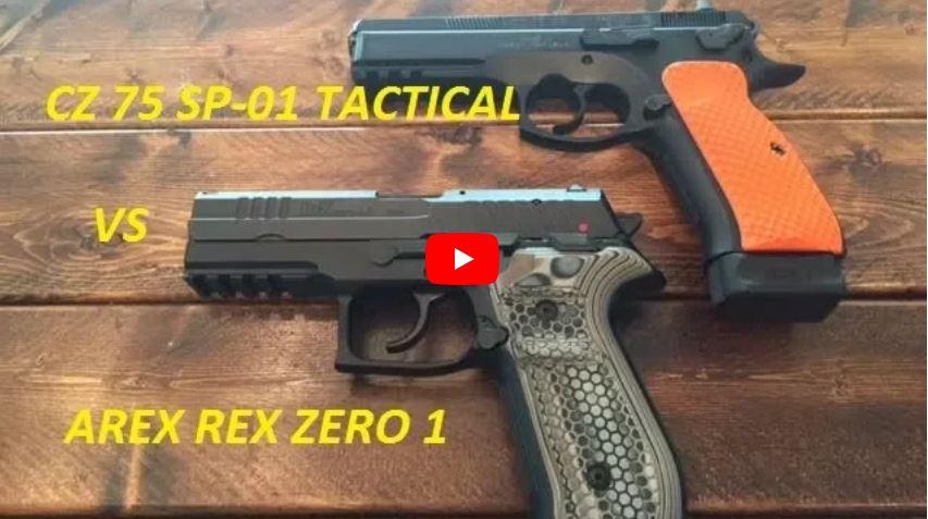 CZ 75 SP-01 Tactical vs Arex Rex Zero 1