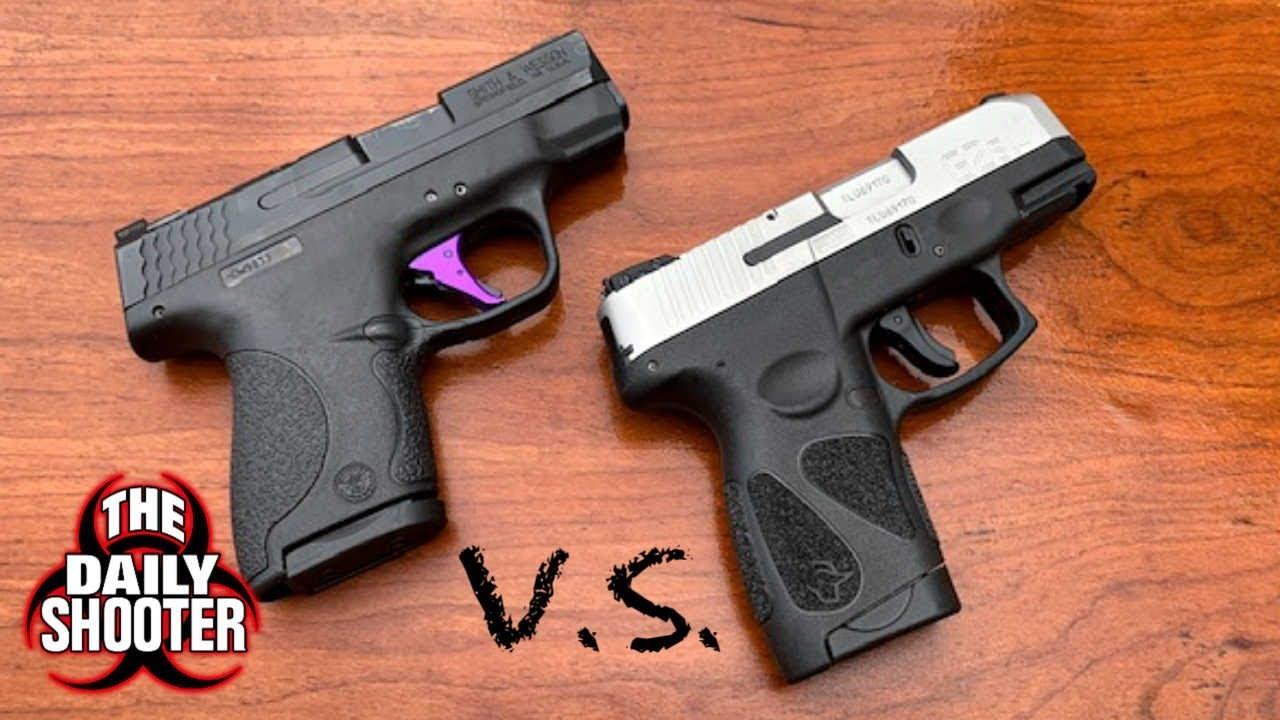 9mm Subcompact Comparison Smith & Wesson M&P Shield vs Taurus G2S
