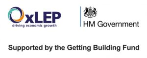 OxLEP, HM Government and Getting Building Fund logos