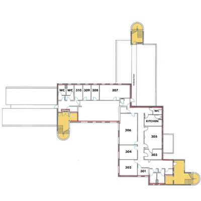 Charter Third Floor Floor Plan with Reference Numbers V1