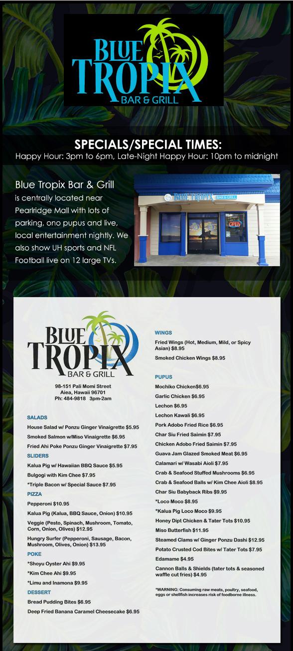 Blue Tropix Page