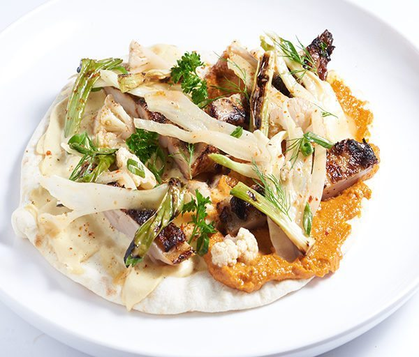 Harissa-Grilled Chicken Lafa