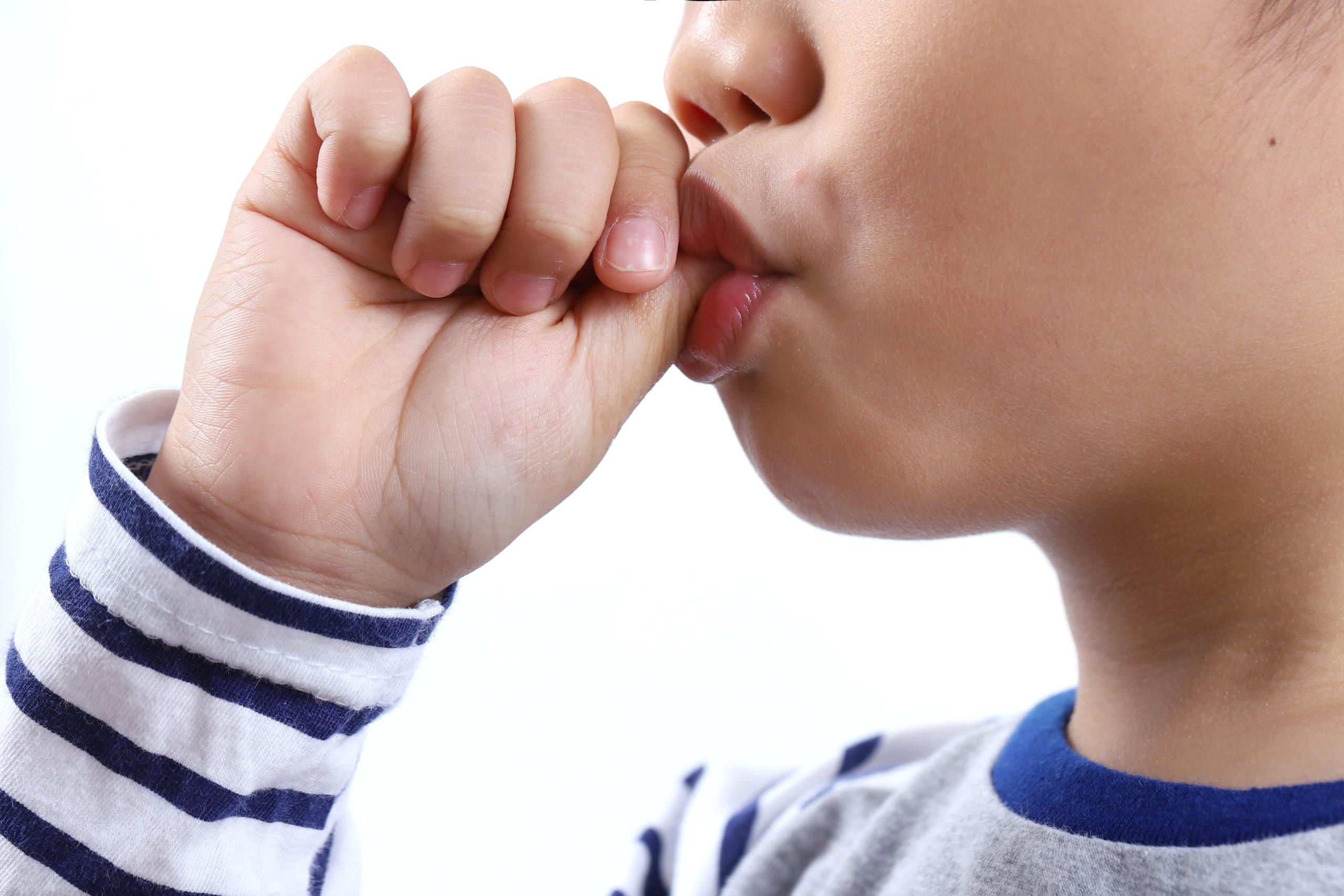 Child sucking thumb Myofunctional therapy