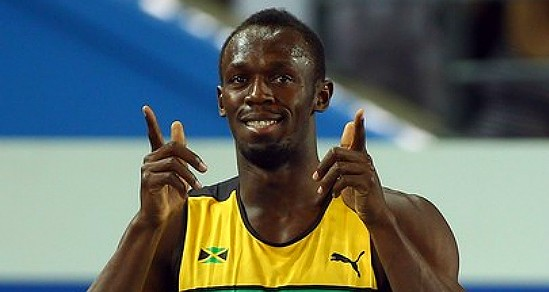 Bolt completes World Championships sprint double with 19.66secs performance
