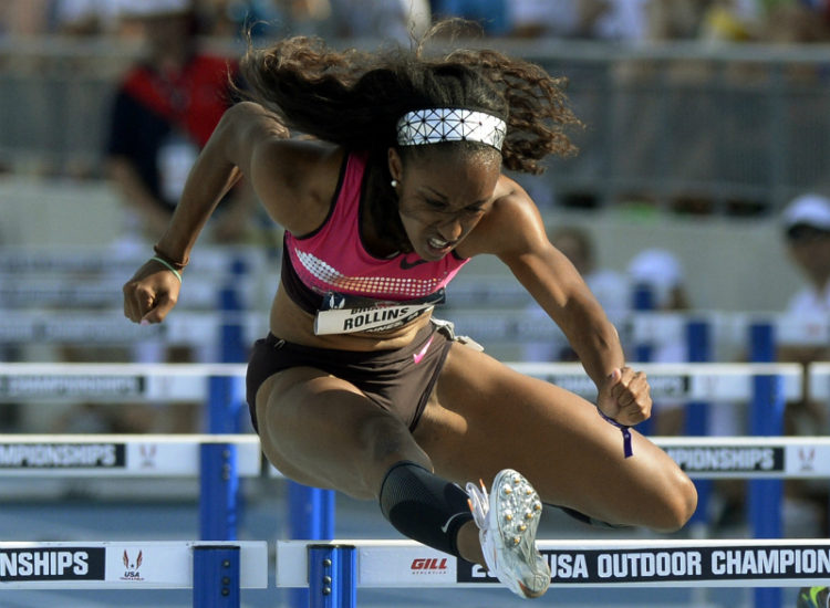 Rollins sets AR of 12.26 in hurdles, wins for Hastings, Merritt; Mary Cain makes Moscow team