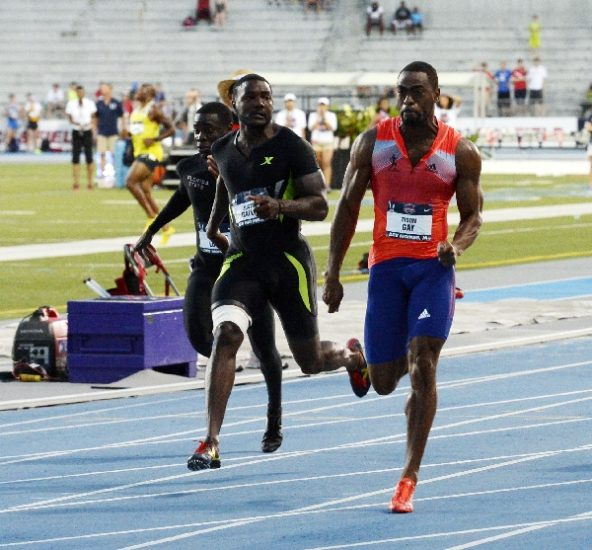 Gay sends further warning to Bolt with 19.74 WL; Duncan upsets Felix