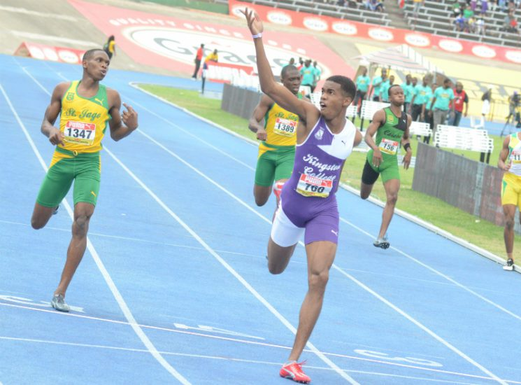 Surprised Akeem Bloomfield WOW Bolt with 44.93 Performance