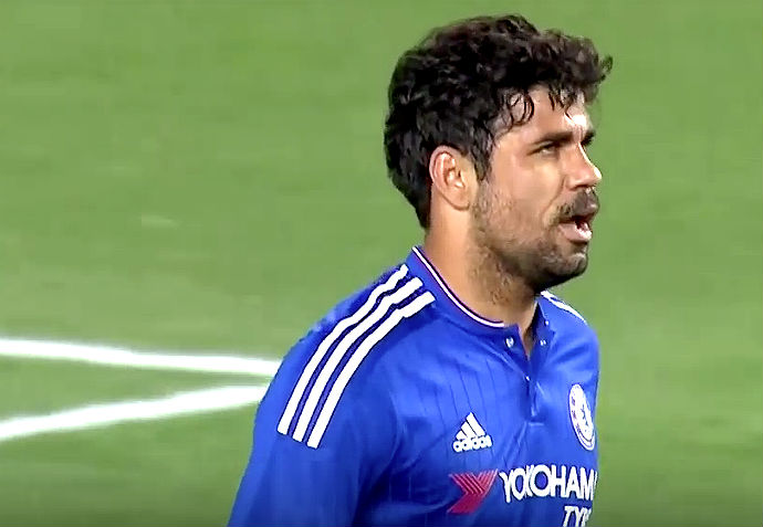 Costa and Fernandinho Get Into It; Terry Pulled At The Half