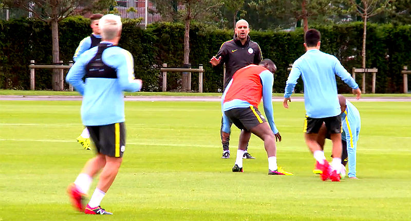Watch Pep Guardiola First Manchester City Training Session