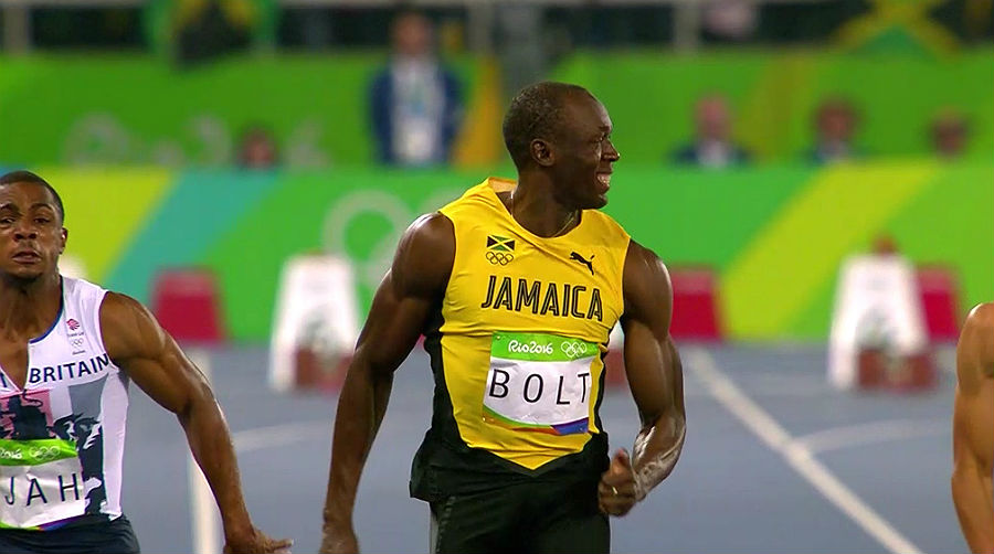 Usain Bolt in action