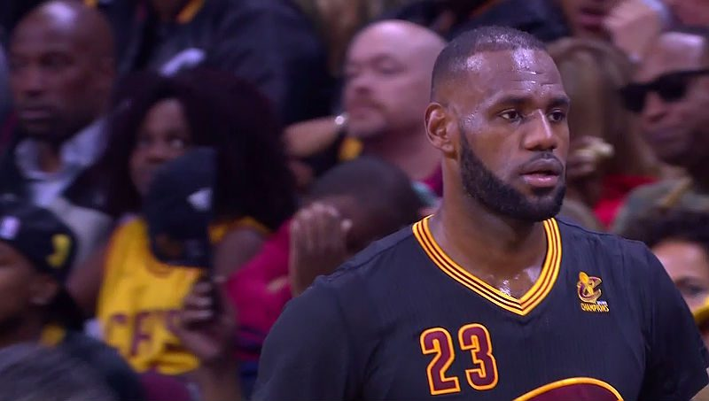 LeBron James of the Cavs