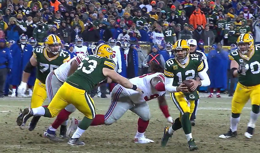 Aaron Rodgers of the Green Bay Packers