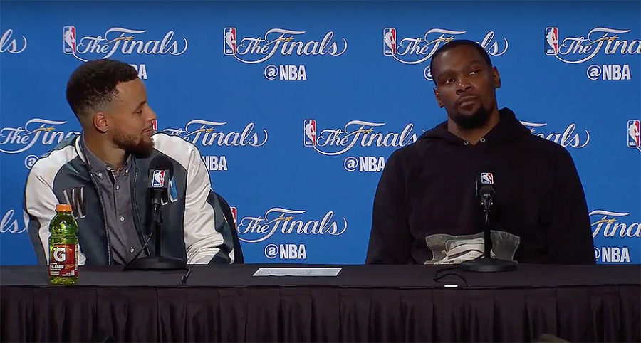 NBA Finals press conference: Durant and Curry