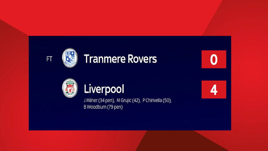 Liverpool Beat Tranmere Rovers 4-0 In Pre-Season Game