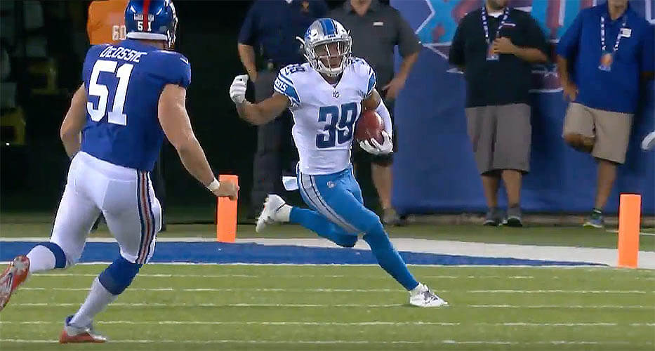Stafford Throws Pair Of TDs, Lions Top Giants; Manning Sacked 5 Times