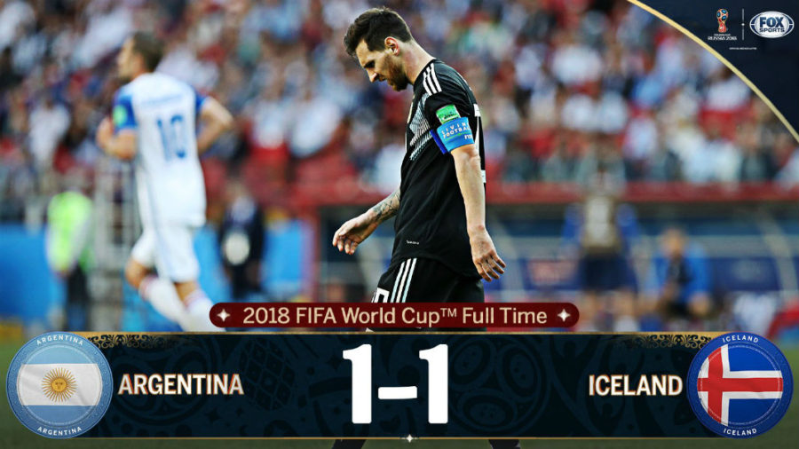 Messi Misses Penalty, Argentina Held 1-1 By Iceland