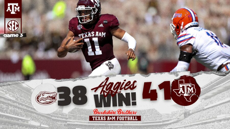 No. 21 Texas A&M Takes Down No. 4 Florida With Late Field Goal From Seth Small