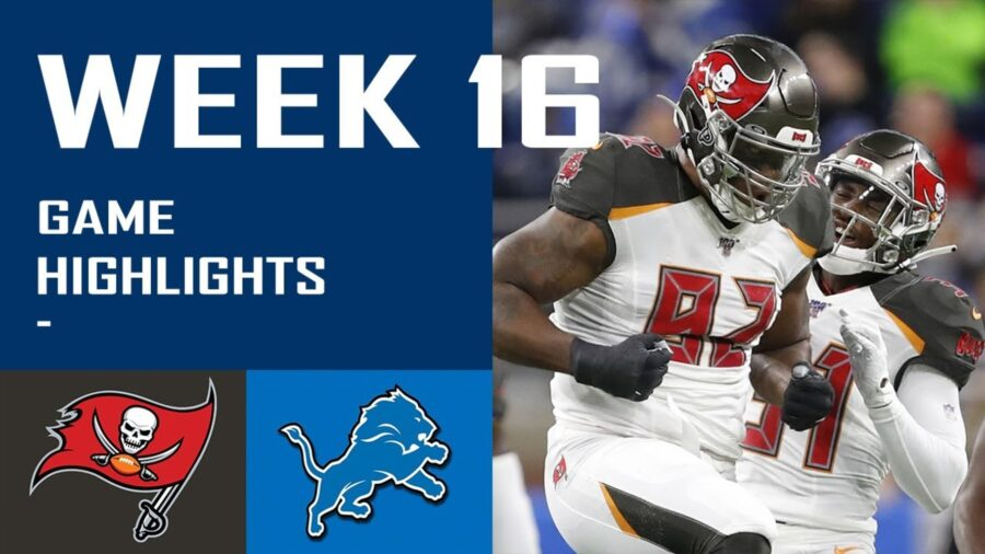Brady Throws 4TDs, Box Score, Highlights As Buccaneers Rout Lions 47-7