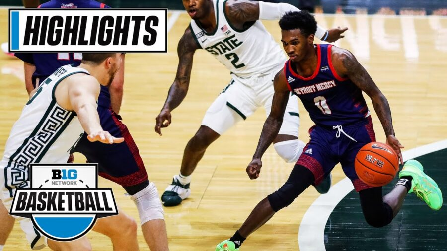 [Video Highlights] No. 8 Michigan State Survived Detroit Mercy Scare
