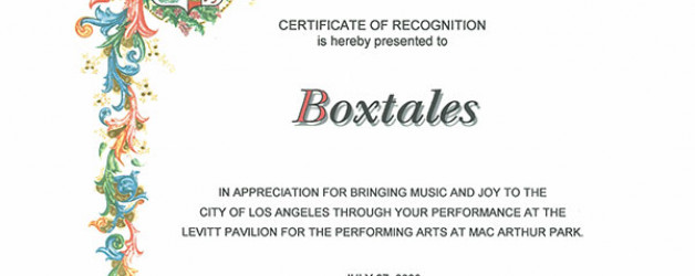 Bringing Music and Joy to the City of LA 2008