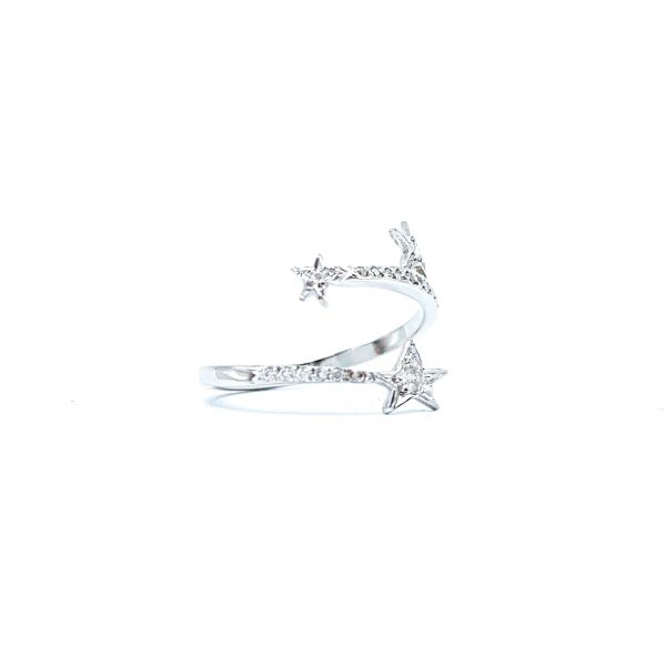 shooting star white gold with diamonds