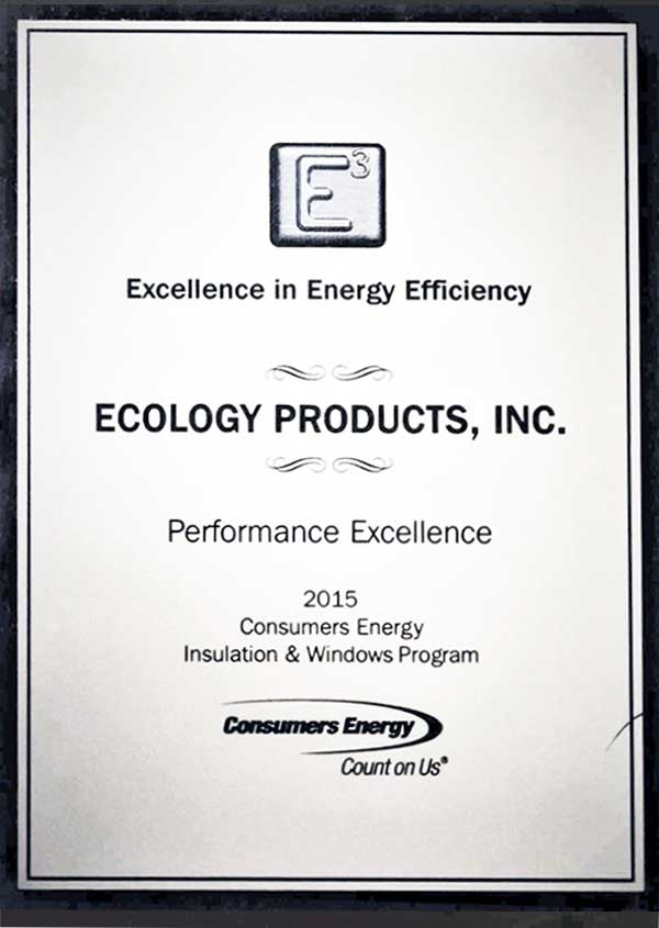 Consumers Energy 2015 Performance Excellence Award