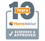 10 years screened and approved by Home Advisor
